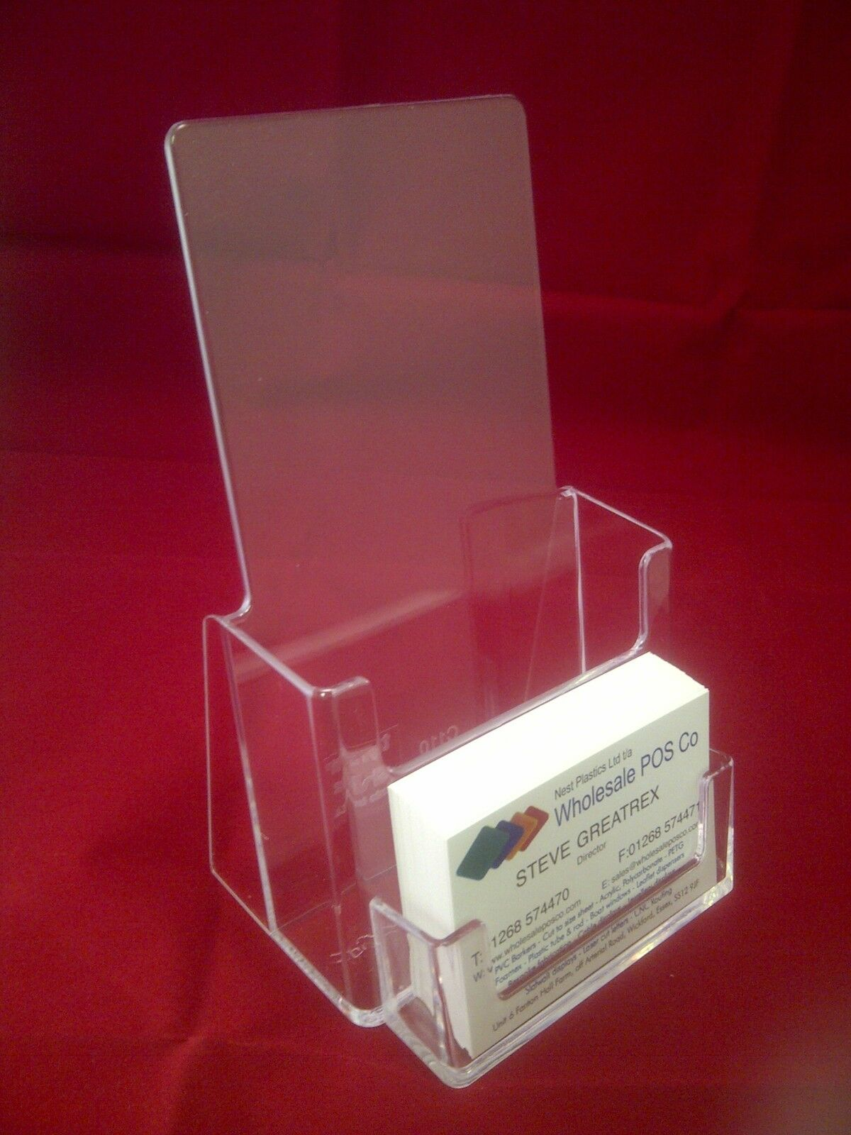 1 x 1 3rd a4 dl leaflet holder business card counter for Flyer and business card holder