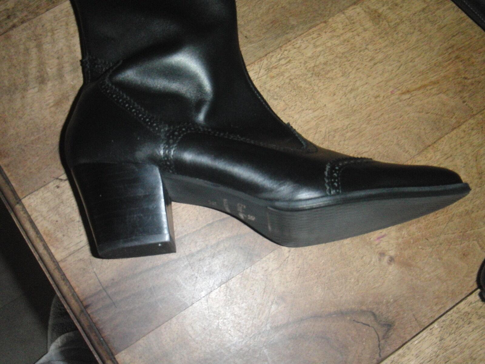 NAVARRO stivali di pelle nero NUOVE 220E Tacco 5cm Valore 220E NUOVE Numeri 39 130462
