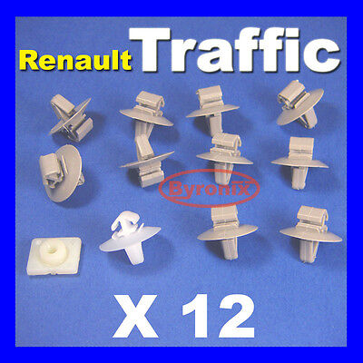 12x Clips Set Vauxhall Vivaro Exterior Side Door Moulding Trim Fastener Kit Pack