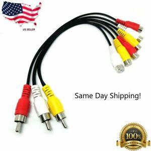 3RCA Male Jack to 6 RCA Female Splitter Audio Video AV TV DVD Adapter Cable UN