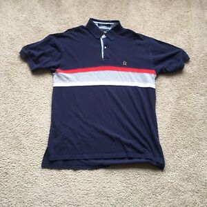 7dd351ed0 Vintage Tommy Hilfiger Red Blue White Yellow Crest Sailing Gear Polo ...
