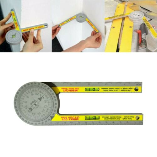 1*Table Saw Miter Gauge Protractor Starret Angle Finder Measuring Tool Carpentry