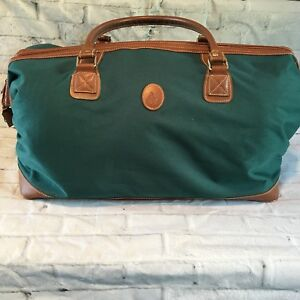 Image is loading Vintage-Ralph-Lauren-Polo-Overnight-Green-Canvas-Duffle- 6c85200b3a632