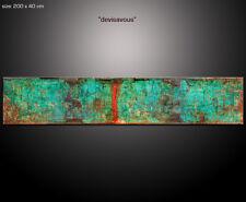 "PAUL SINUS 200x40cm Kunst Wandbilder Abstrakt Bilder ""Devisavous"" 4cm tief XXL"