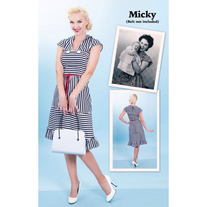 NWT Tatyana Bettie Page Clothing Mickey Dress Rockabilly Pinup