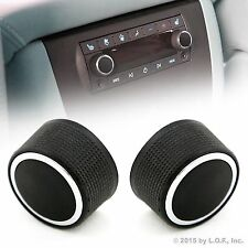 2 Rear Control Knobs Audio Radio Fits Escalade Enclave Tahoe Chevrolet GMC Pair