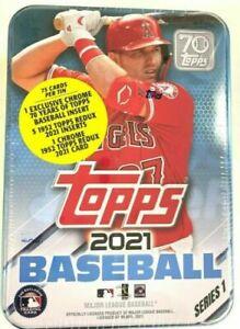 2021 Topps Series 1 MLB Baseball Collectible Random Tin- Brand New & Sealed!!!