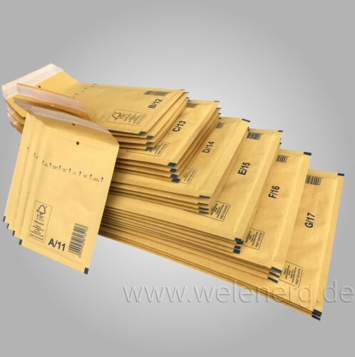 500 St 250x350 G7 Luftpolstertaschen G17 Versandtaschen Taschen BRAUN