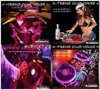 X-TREME CLUB HOUSE (VOL.3,4,5 & 6) 4 x DJ MIX CD'S - 240+ Hours of house music