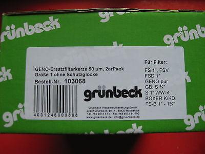"""Grünbeck 2er Set Geno Filterkerze FS 1/"""" FSD Filtereinsatz Wasserfilter 103068"""