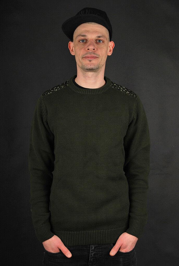 ADIDAS Originals ADVENTURE Knit Crew Night Cargo Camo Print Felpa Pullover