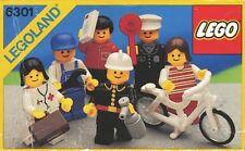 Lego Classic Town 6301 Town Mini Figures NEW SEALED 1986' LEGOLAND Rare Bicycle