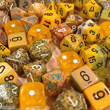 Chessex BY COLOR - 3 ounces assorted YELLOW dice from Pound-O-Dice - Pound Dice