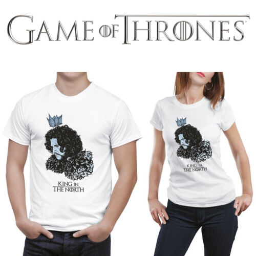 Fire and Blood Game of thrones inspired men//women T-shirt King in the North