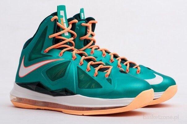 Nike lebron james x 10 miami dolphins sonnenuntergang über blaugrün blaue blaue blaugrün größe 9,5 mens add82c