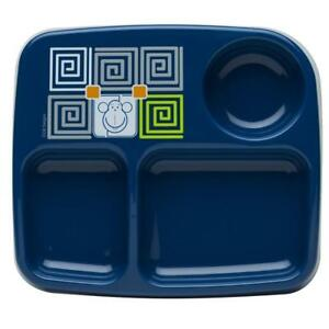 Toddlerific-3-Section-Plate-Toddler-Food-Monkey-Owl-Mealtime-Dinnerware-Kids