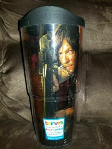 20 Tervis The Walking Dead If Daryl Dies We Riot Wrap 24oz  Travel Lid tumbler