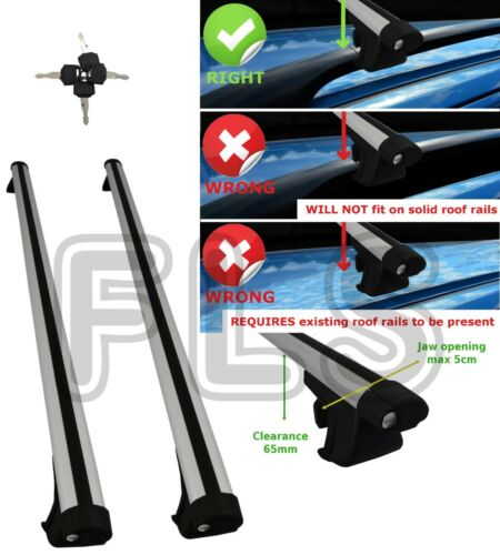 UNIVERSAL ROOF BAR ROOF RAIL//RACK ESTATE SALOONS OVAL FITS BMW