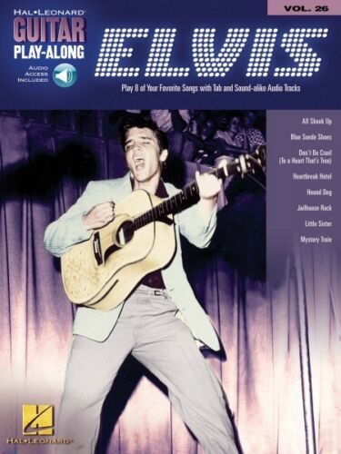 Elvis Presley Sheet Music Guitar Play-Along Book and Audio NEW 000699643