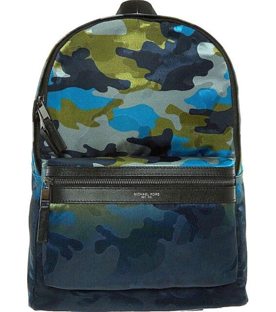 390a318790f8 Michael Kors 2019 Kent Camo Backpack Work Travel Laptop Bag Rucksack  GENUINE New