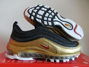 Nike Air Max 97 Qs Black Red Gold Medal Sz 5 Mens Womens Sz 6 5