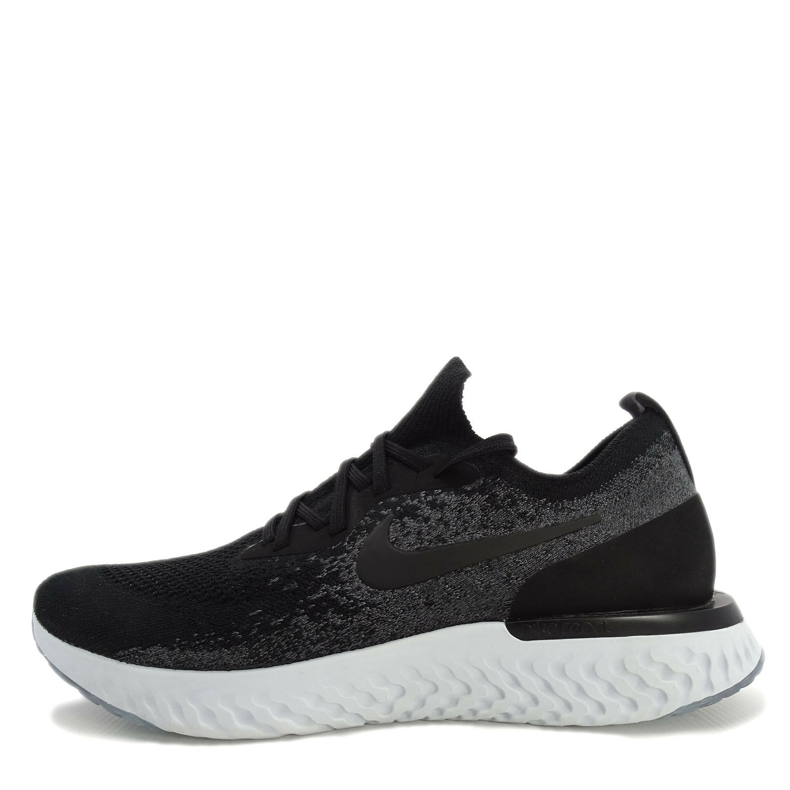 Nike Epic React Flyknit Price reduction Men Running Shoes Black/Dark Grey-Platinum The latest discount shoes for men and women