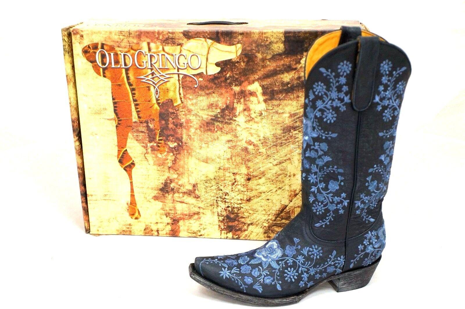 Señoras Old Gringo Shelby 13    Azul Occidental botas L2208-5 Nuevo En Caja  diseño único