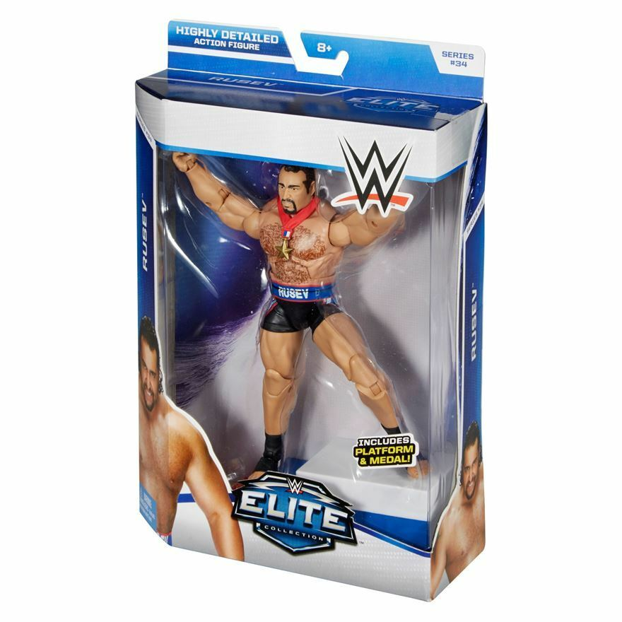 Official WWE Mattel Elite Series 34 Alexander Rusev Action Figure