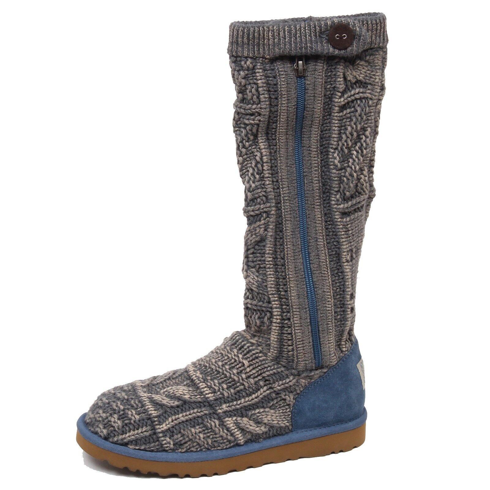 F0054 (NO BOX) stivale donna hellblau / grau UGG Scarpe Wollstiefel Schuh Frau