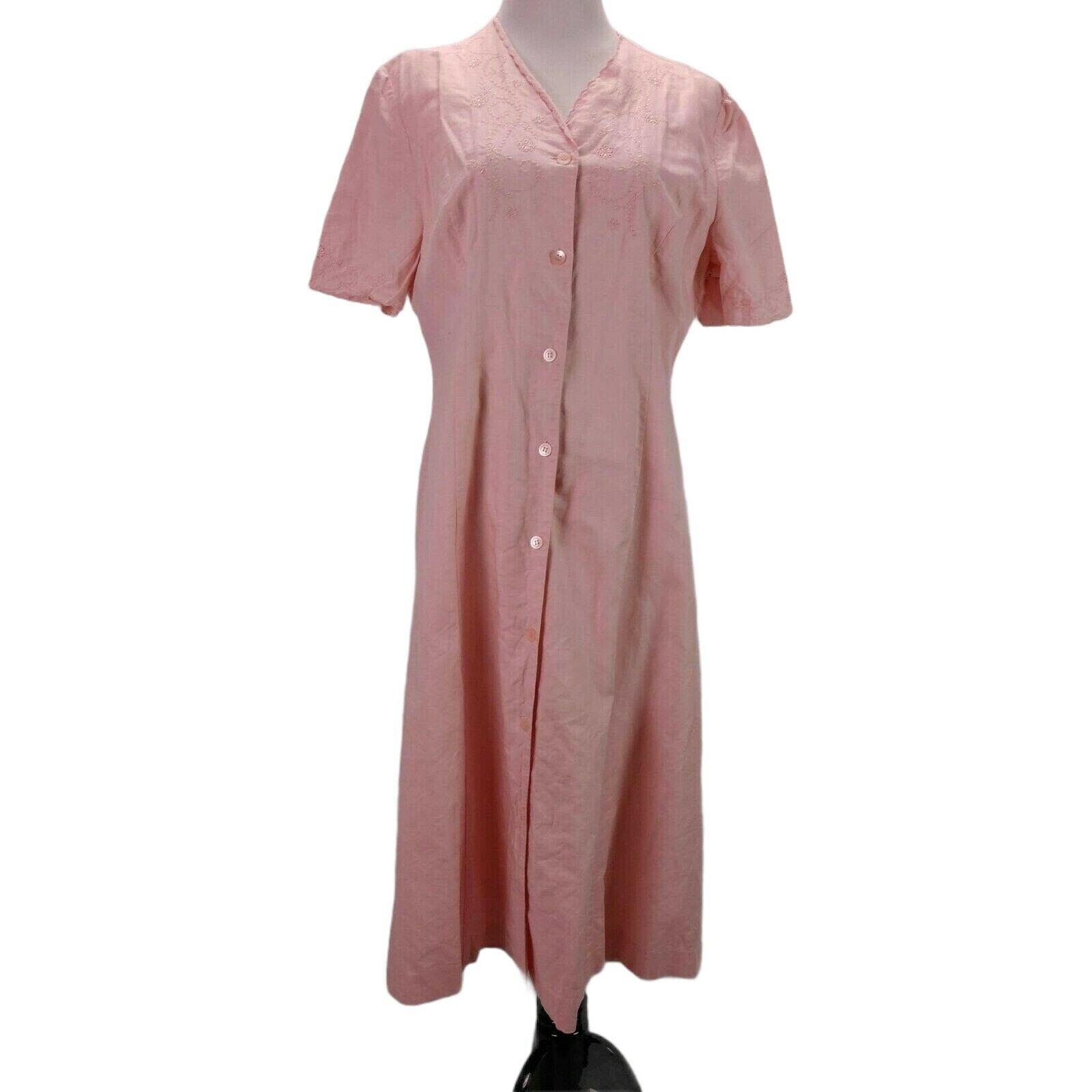 Vintage Laura Ashley Linen Eyelet Dress Size 14 P… - image 2