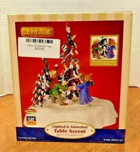 LEMAX Merry Christmas Tree #44190 Lighted Animated Table ...