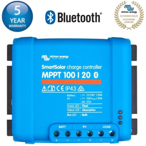 VICTRON ENERGY SMARTSOLAR MPPT 100/20 100V 20A LEISURE BATTERY CHARGE CONTROLLER