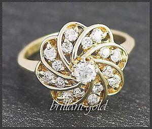 Diamant-Ring-mit-0-55-ct-Brillanten-aus-585-Gold-Damen-Cocktailring-Neu