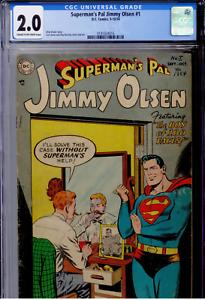 Superman's Pal, Jimmy Olsen #1 CGC 2.0  Curt Swan cover/art, Binder script