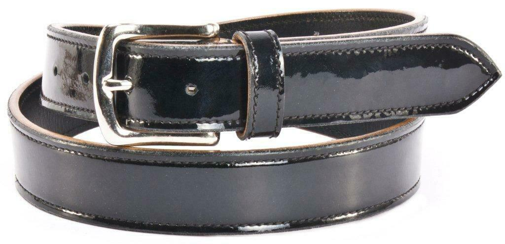 QHP Gürtel Hermes black glänzend 75 cm