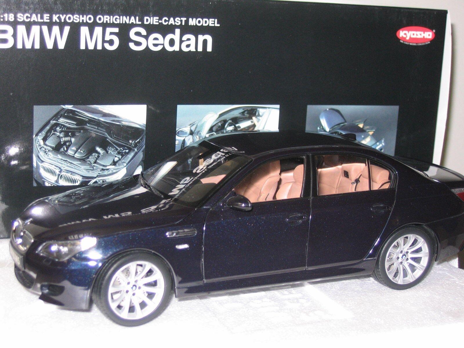 Kyosho BMW M5 Sedan, negro carbón, 08593BK Nuevo