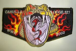 OA-CAHUILLA-127-CA-INLAND-EMPIRE-COUNCIL-PATCH-2000-FIRE-SNAKE-SERVICE-FLAP