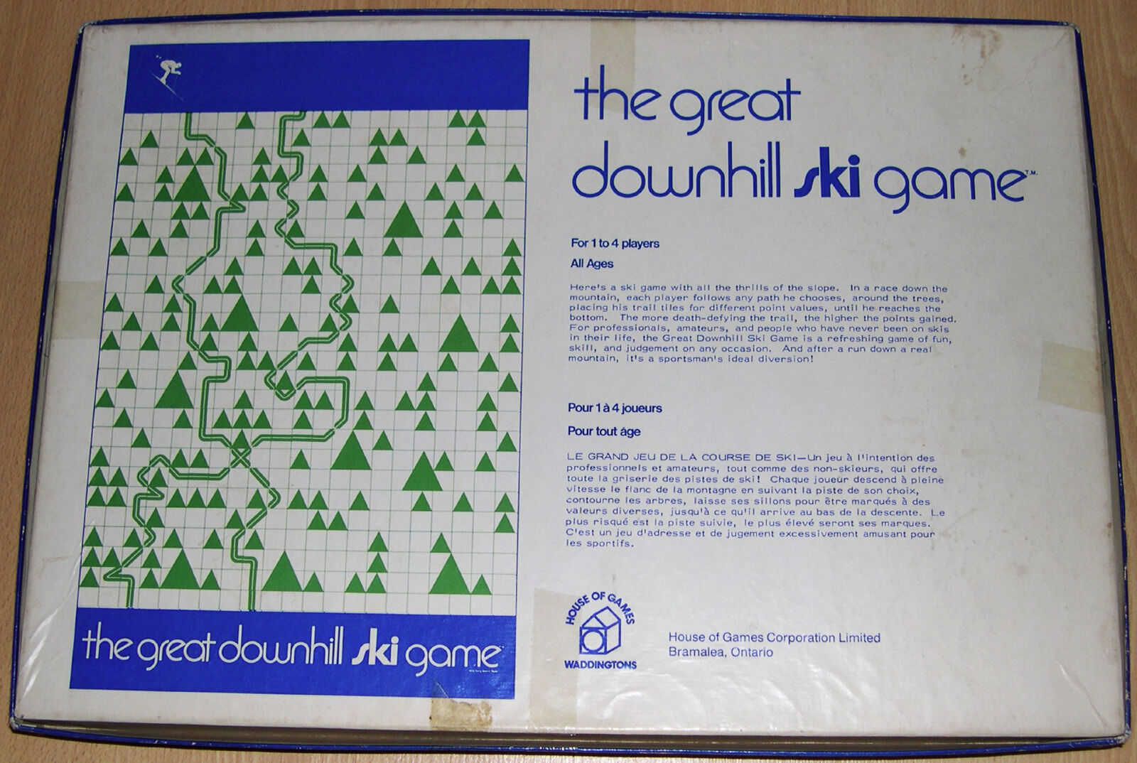 La grande descente ski GAME-Vintage - 1970 1970 1970  Canadian Waddington . Rare. 7ae038