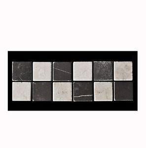 Das Bild Wird Geladen Badfliesen Marmor Bordueren Grau Weiss 10 Cm BO