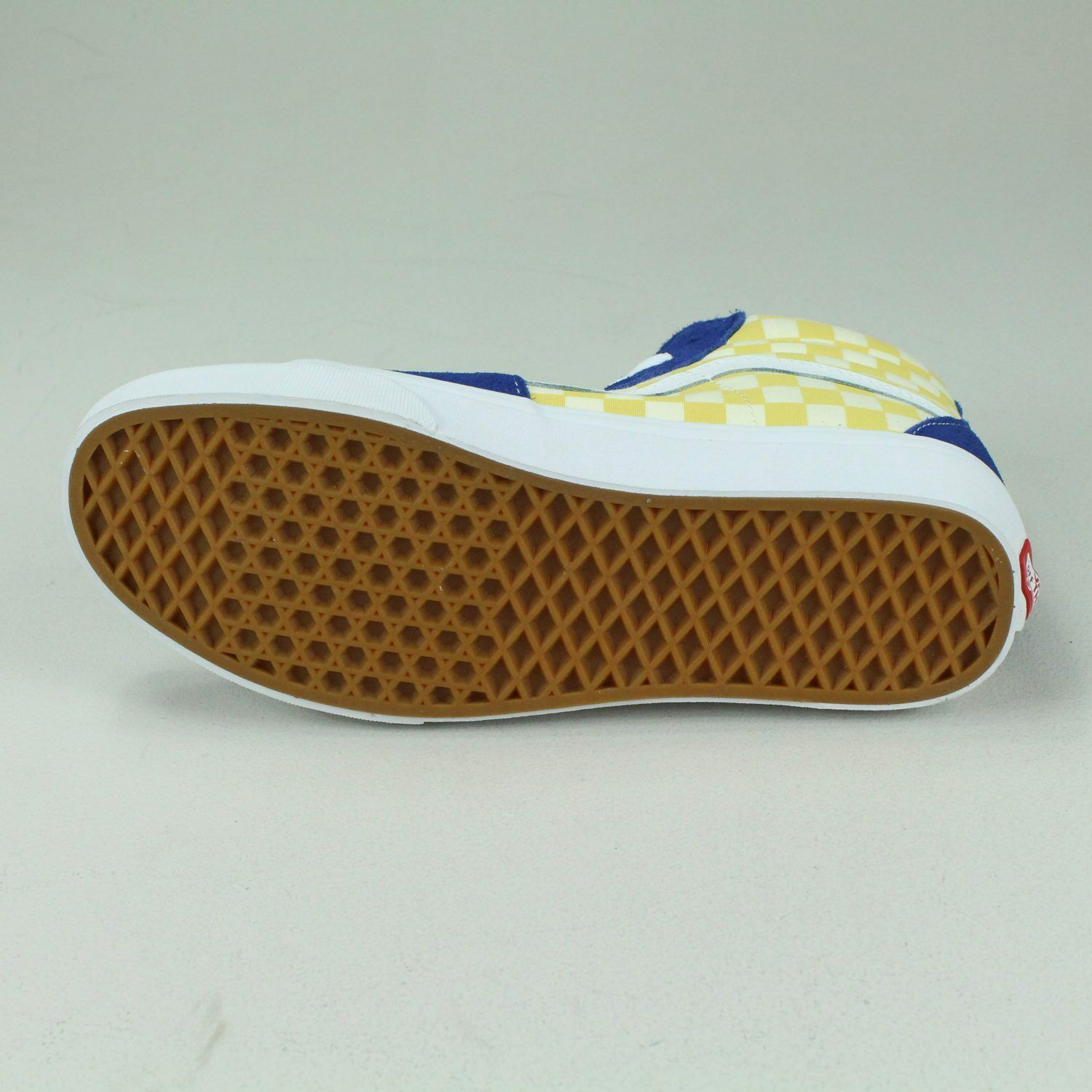 Vans BMX Checkerboard in Sk8 Hi Shoes Trainers in Checkerboard Yellow/Blue in UK Size 6,7,8,9,10 4ce63d