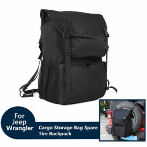 60712549713b Details about For Jeep Ford 30'' To 33'' Tire Cargo Storage Bag Spare Tire  Backpack Organizer