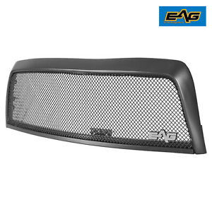 EAG Fit for 03-06 Toyota Tundra Front Mesh Hood Grille Black Stainless Steel