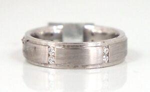 Scott-Kay-Mens-Diamond-Wedding-Band-Ring-19k-White-Gold-amp-Platinum-Size-10