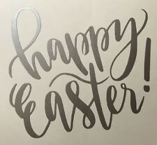 10 Happy Easter Vinyl Glass Stickers Decals Crafts Etching Card Making Fun
