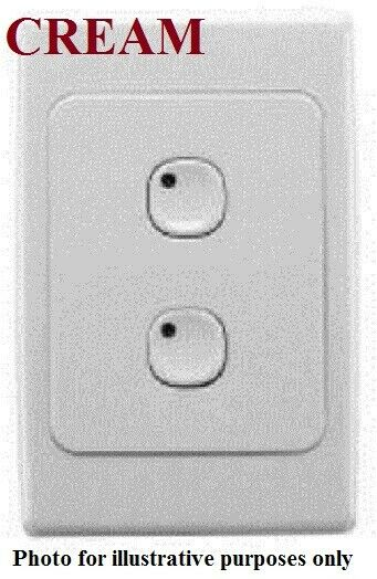 Clipsal 2000-SERIES C-BUS2 WALL SWITCH 116x76mm 2-Button Programmable CREAM