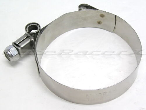 """Stainless Steel 2-3//4/"""" 70mm Motorcycle Exhaust Clamp Heavy Duty T-Bolt Clamp"""