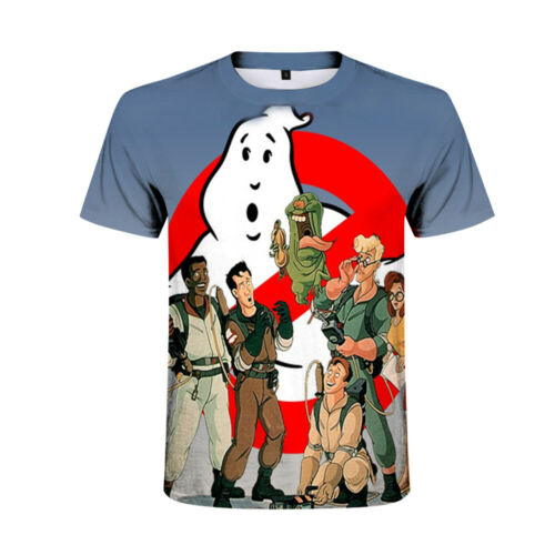 Kid/'s Ghostbusters 3D printed t shirts Slime Short Sleeved shirt summer tee tops