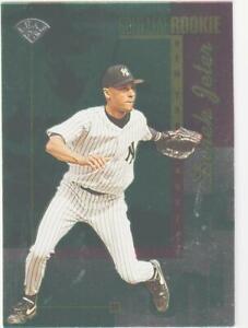 1996-Gold-Leaf-211-Derek-Jeter-foil-rookie-card-New-York-Yankees-HOF