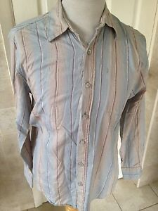 Fat-Face-Mens-Striped-Long-Sleeve-Shirt-Size-S-Great-Condition