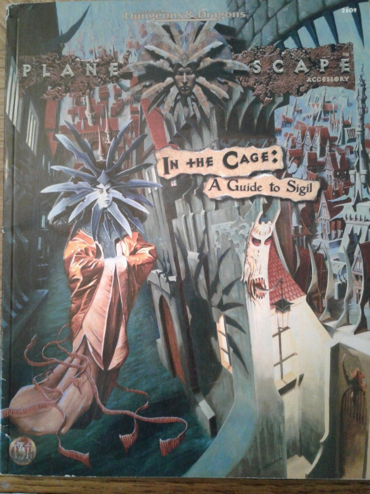 AD&D 2nd Ed Planescape Aid -  IN THE CAGE  A GUIDE TO SIGIL  (no map)